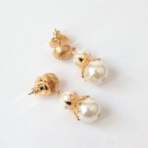 🔥Tory Burch Hollow flower pearl earrings